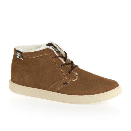 DC Shoes Damen-Boots Braun Village Le 320068 Freizeit Sneaker-Boot Braun