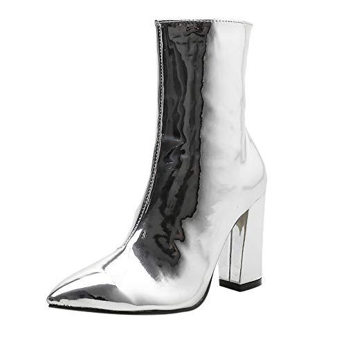 cke Spitze Kurze Stiefel Stiefel Frauen Seitlichem Reißverschluss Heels ()