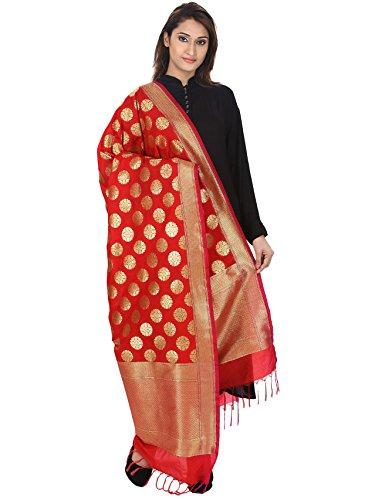 Dupatta Devam Women's Silk Banarsi Woven Handloom Dupatta