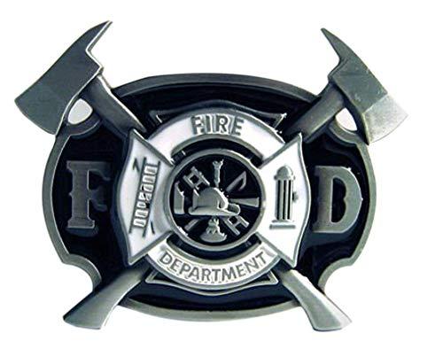 Fire Department Buckle, US- Feuerwehr Logo, Firefighter - Gürtelschnalle - Firefighter Gürtelschnalle