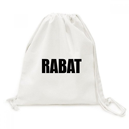 DIYthinker Rabat Marokko Stadt Name Canvas-Rucksack-Reisen Shopping Bags