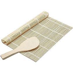 Elviray Sushi Roll Maker Bamboo Kit Rullo di Riso Stampo Stampo Chef Cucina Set Fai da Te