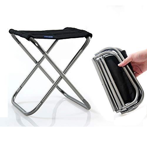 XUMINGZDY Klapphocker Bank tragbare Outdoor-Mazar-Stühle ultraleichte U-Bahn-Reisestühle ohne Artefakte angereiht Angeln Hocker Strandbänke (Farbe : Silber, größe : XL)