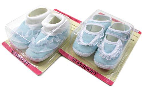 2er Set Babyschuhe Gr. 16-17 ca.10cm 2 Paar Krabbelschuhe Lauflerner Baby Schuhe BS6085-DS10