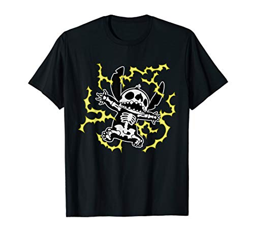 Disney Stitch Skeleton Halloween T-Shirt