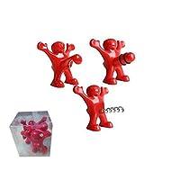 Prenez votre ami excité pour un ami, un parent, un collègue, ou même vous-même tout de suite parce que ces favoris de la fête se vendent rapidement! Happy Man Nouveauté bouchon de bouteille, Set de 3  * A propos du produit  - Bouchon de bouteille de ...