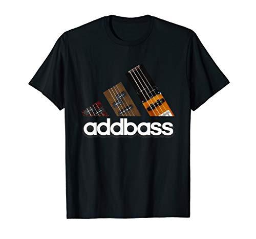 Addbass Add Bass T Shirt für Bassisten Musiker Producer DJ