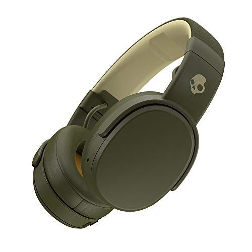 Auriculares Skullcandy Crusher Over-Ear Bluetooth Inalámbricos con Micrófono Integrado, Memory Foam con Aislamiento de Ruido, Stereo Ajustable, Batería con 40 Horas de Duración, Oliva/Moss/Amarillo