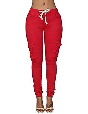 DAYLIN 2018 Pantalones Lápiz Moda Sexy Slim Color Sólido Pantalones para Mujer