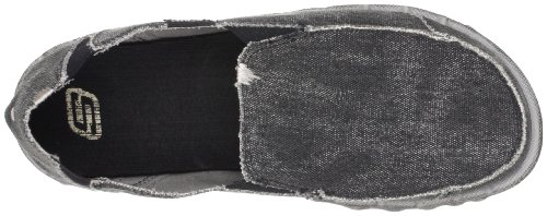 Skechers Mens 63335 Tride Miron Canvas Slip On Shoe Black