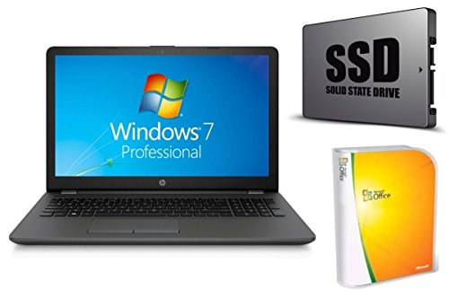 Notebook HP 255 G6 - 8GB RAM - 128GB SSD - Windows 7 PRO + Office - 39cm (15.6