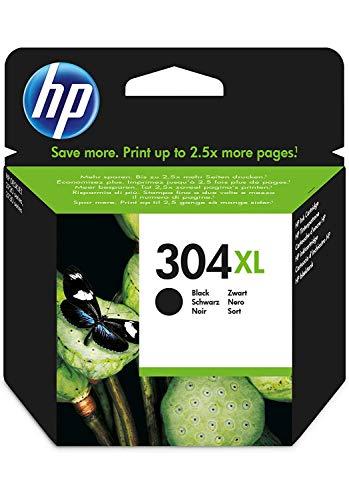 HP 304XL N9K08AE ABE Original Druckerpatrone (mit hoher Reichweite für HP DeskJet 2630, 3720, 3720, 3720, 3730, 3735, 3750, 3760; HP ENVY 5020, 5030, 5032) schwarz