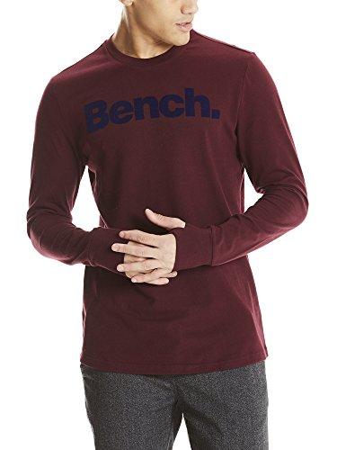 Bench Herren Langarmshirt Logo LS Tee, Rot (Dark Burgundy Bu017), XX-Large (Tee Logo Basic Long Sleeve)