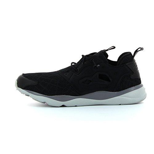 Reebok Furylite Tm, Chaussures de Running Entrainement Garçon Noir / gris / blanc (noir / requin / acier)