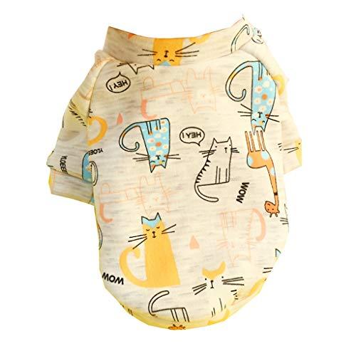 DingDing Pet Kleidung, Teddy Welpen, Niedliche Cartoon Zweibeinigen Kleidung (Farbe : B, größe : XXL)