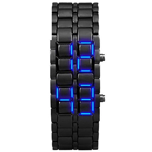 Montre électronique couples imperméable mode montre créatrice de personnalité de led d'étudiant-F Wrist Watches