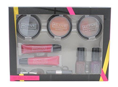 Active Cosmetics Get Set Glamour Confezione Regalo 2 x 3.5g Duo Ombretto + 1 x 3.5g Fard + 2 x 5g Sm