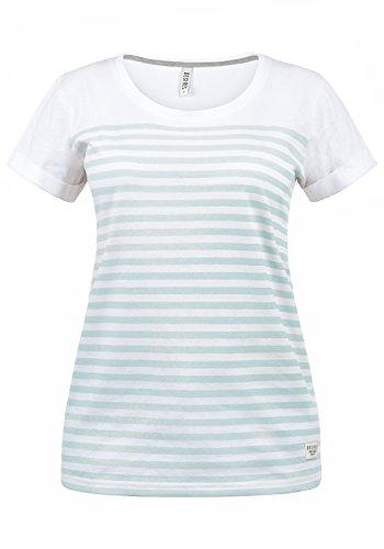 DESIRES Mimi Damen Longsleeve Langarmshirt Streifenshirt Shirt Mit Rundhalsausschnitt Aus 100% Baumwolle, Größe:L, Farbe:Baby Blue (1007) -