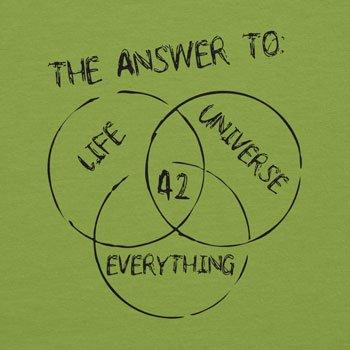 NERDO - 42 is the Answer - Damen T-Shirt Kiwi