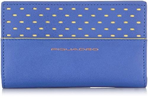 Piquadro Portafoglio, Collezione Ipazia, in Pelle, 16 cm, Blu