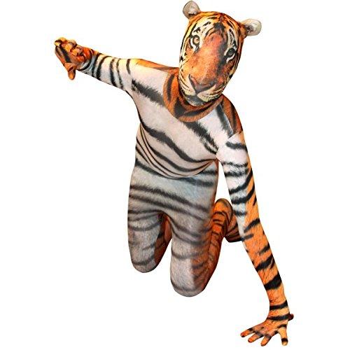 2nd Skin Morphsuit Kids Animal Planet Tiger Costume Skinz Fancy ()