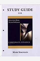 Study Guide for Corporate Finance Paperback