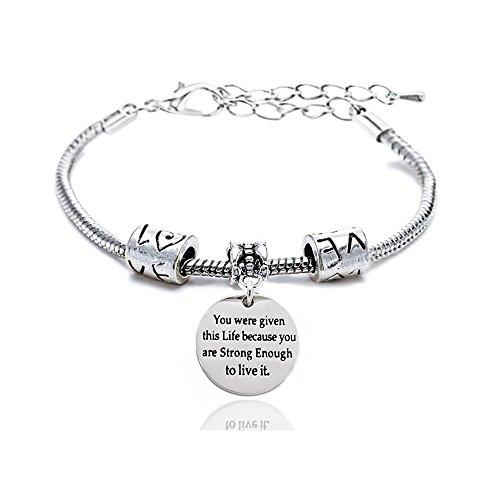 Amigo de la familia ajustable pulsera–You Were Given esta vida Because You son lo suficientemente fuerte como para vivir