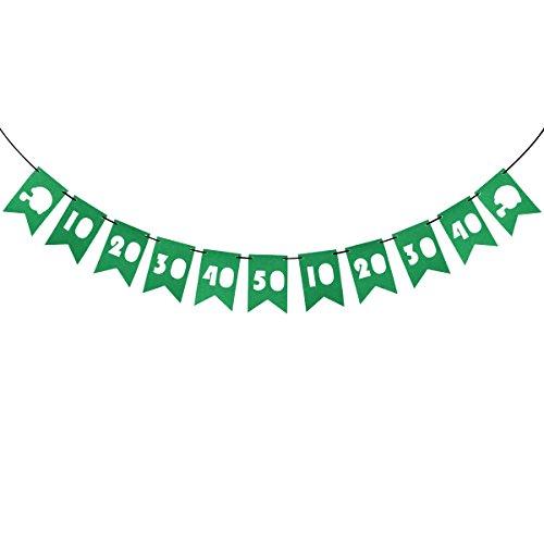 ty Banner Numer 10 bis 50 Ausschnitt Schwalbenschwanzflaggen Super Bowl Dekoration Stoff Bunting Girlande Dekoration für Rugby-Spiel Geburtstag Party Favors ()