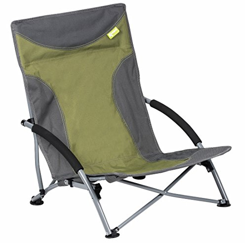 Kampa Sandy Hohe Rückenlehne Low Stuhl Strand/Garten/Camping Liege Sitz grün grün