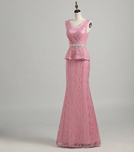 Drasawee - Robe - Moulante - Femme Rose