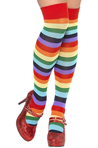 Str�mpfe Damen bunt regenbogen Clownstr�mpfe rainbow socks (Feuer Nation Kostüm)