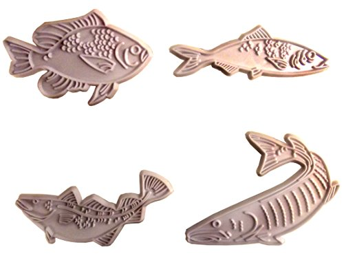 vierer Set Prägestempel realistische Fische