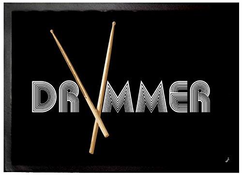 Felpudos Música Band, Drummer Felpudo Alfombrilla (70 x 50cm)