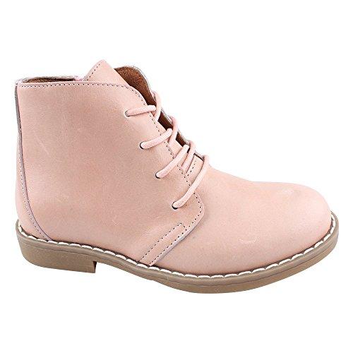 EN FANT Shoes Lace, Bottes mi-hauteur non doublées fille Rose - Pink (Blush 55)