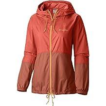 Columbia Mujer Chaqueta Flash Forward cortavientos, primavera/verano, mujer, color Zing/Tuscan, tamaño medium