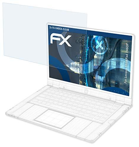 atFolix Schutzfolie kompatibel mit Lenovo ThinkPad T460P Panzerfolie, ultraklare und stoßdämpfende FX Folie (2X)