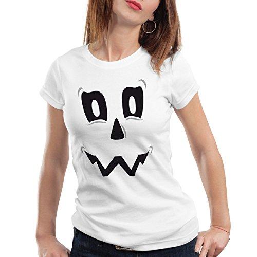 k Geist Damen T-Shirt, Farbe:Weiß;Größe:M (Freitag, Der 13. Halloween-streich)