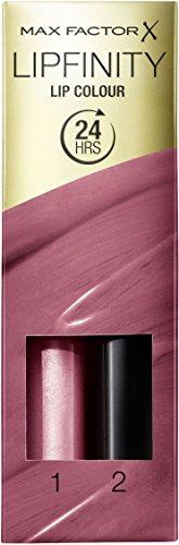 Max factor - Lipfinity, bálsamo y brillo de labios, color 330 borgoña esencial (2 ml)