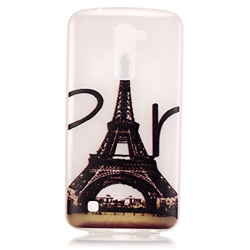 iPhone 6/6S 4.7 Inch Luminous Hülle (Mit Frie HD Displayschutzfolie) Leuchtende Silikone Rückhülle Für iPhone 6/6S 4.7'' Silikon Gel Etui Handy Hülle Weiche Transparente Luminous TPU Back Case Tasche  Eiffelturm