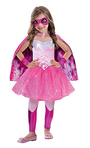 Amscan 999340 - Kinderkostüm Barbie Super Power Prinzessin, circa 5 - 7 Jahre, Gröߟe 116, (Barbie Kostüm Amazon)