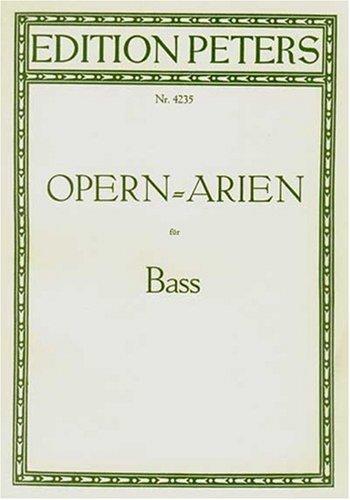 Opéra Arias for Bass Chant