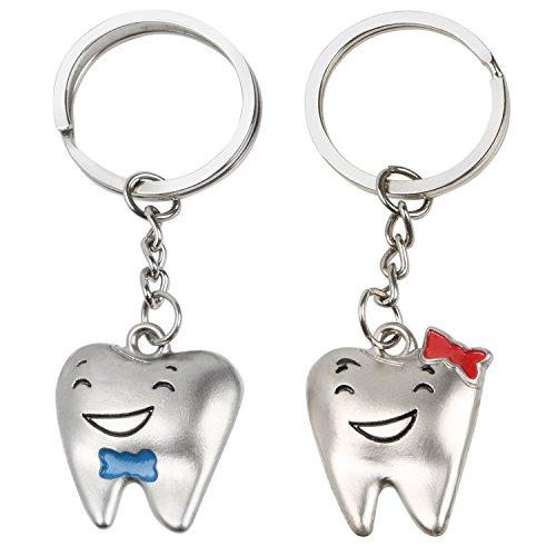 Trixes Schlüsselanhänger für Sie und Ihn Cartoon-Zähne