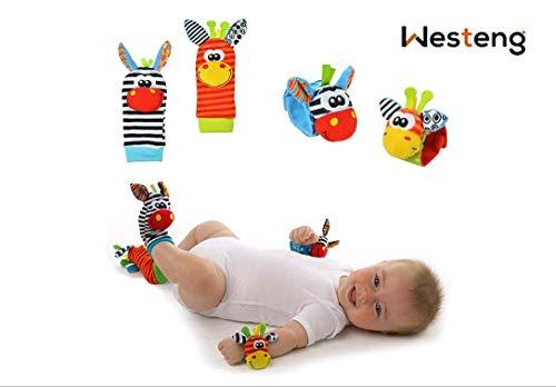 Westeng 4pcs bebé juguete muñecas Mignon Animal Donkey...