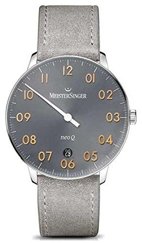 MeisterSinger Forma y estilo para hombre neo q cuarz sunburst medio gris NQ907GN
