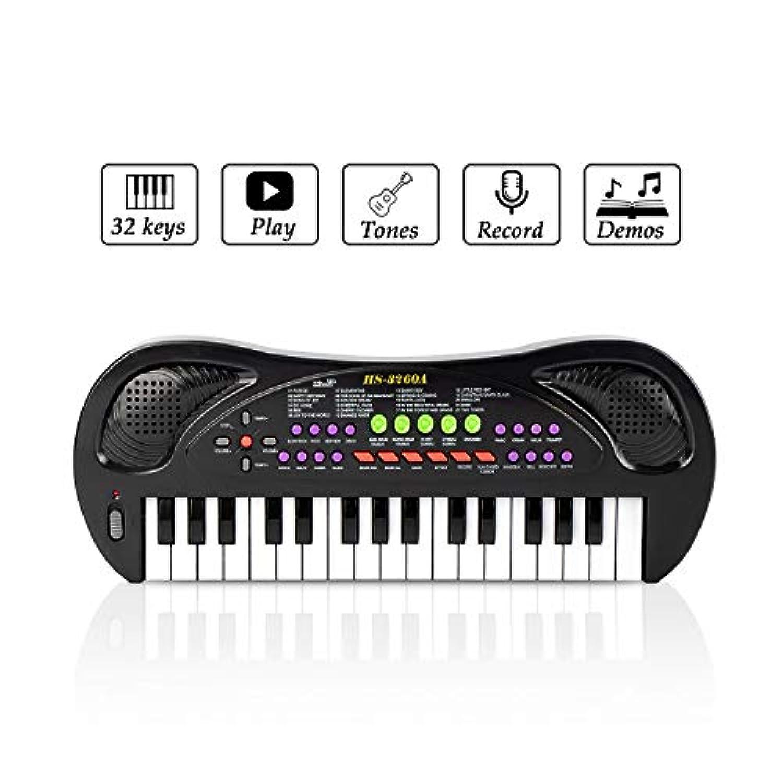 Instrument de Musique pour Piano /à Clavier /électronique Multifonction /à 32 Touches pour Enfant en bas /âge avec Microphone Violet JINRUCHE Kids Piano