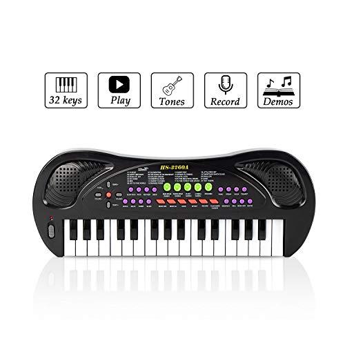 JINRUCHE Kinder Klavier, 32 Tasten Multifunktions Elektronische Kinder Tastatur Piano Music...
