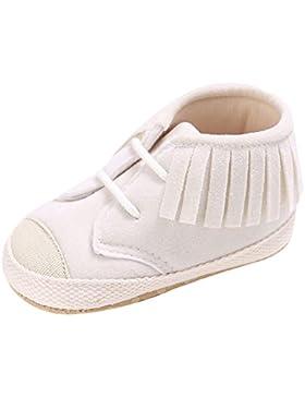 La Vogue Zapatos Antideslizante con Flecos 3 Colores para Bebé Niña de Primavera y Otoño