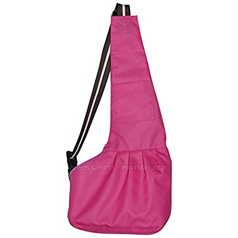 Wocharm Comfortable Soft Oxford Cloth Sling Pet Dog Cat Carrier Pet Tote Single Shoulder Bag for Small Dog and Cat (Small, Hot