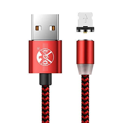 Ugi® USB Ladekabel Magnetische Blitz 3.3ft/6.6ft/10ft Nylon Geflochtene Schnellladung USB Kabel Magnet mit LED-Anzeige für Phone X 8 Plus 7 Plus 6 Plus 6 s Plus 5 5s SE Lot - Ft Iphone 10 5s-geflochten-ladegerät