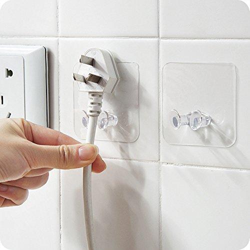 Gaddrt 2 stück wandspeicherhaken netzstecker sockel wand kleber aufhänger home office Haken Multifunktionshaken